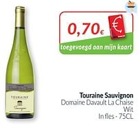 Touraine sauvignon domaine davault la chaise wit-Witte wijnen
