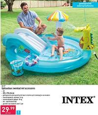Opblaasbaar zwembad met accessoires-Intex