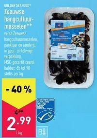 Zeeuwse hangcultuurmosselen-Golden Seafood