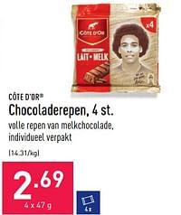 Chocoladerepen-Cote D