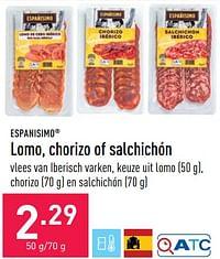 Lomo, chorizo of salchichón-Españisimo