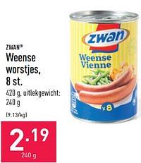 Weense worstjes-Zwan