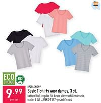 Basic t-shirts voor dames-UP2Fashion