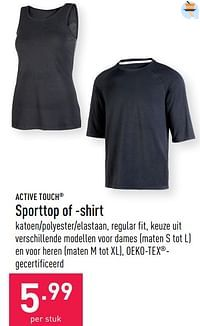 Sporttop of -shirt-ACTIVE TOUCH