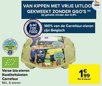 Verse bio-eieren kwaliteitsketen carrefour-Huismerk - Carrefour