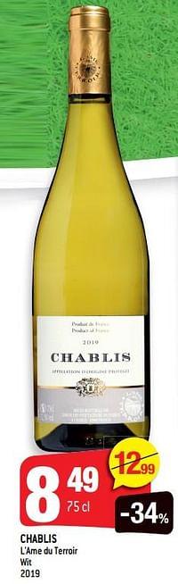 Chablis l`ame du terroir wit 2019-Witte wijnen