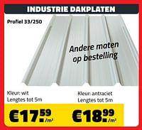 Industrie dakplaten-Huismerk - Bouwcenter Frans Vlaeminck