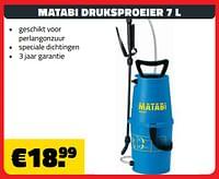 Matabi druksproeier 7 l-Matabi