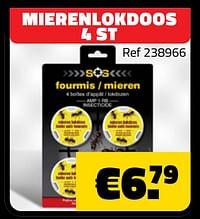 Mierenlokdoos 4 st-Huismerk - Bouwcenter Frans Vlaeminck