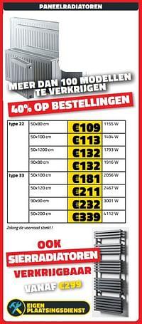 Paneelradiatoren-Huismerk - Bouwcenter Frans Vlaeminck
