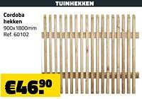Tuinhekken cordoba hekken-Huismerk - Bouwcenter Frans Vlaeminck