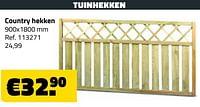 Tuinhekken country hekken-Huismerk - Bouwcenter Frans Vlaeminck