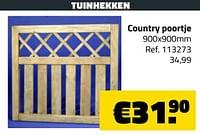 Tuinhekken country poortje-Huismerk - Bouwcenter Frans Vlaeminck