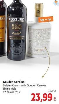 Gouden carolus belgian cream with gouden carolus single malt-Gouden Carolus
