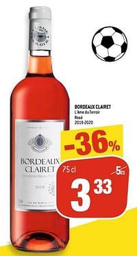 Bordeaux clairet l`ame du terroir rosé-Rosé wijnen