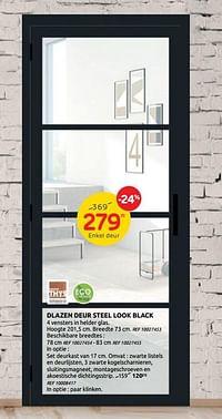 Dlazen deur steel look black-Group Thys