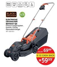 Black+decker elektrische grasmaaier bemw351-qs-Black & Decker