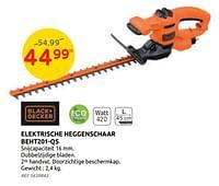Black + decker elektrische heggenschaar beht201-qs-Black & Decker