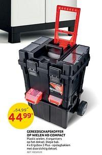 Gereedschapskoffer op wielen hd compact-Huismerk - Brico