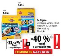 Pedigree dentastix mini medium of maxi-Pedigree