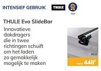 Intensief gebruik thule evo slidebar-Thule