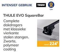 Intensief gebruik thule evo squarebar-Thule