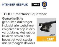 Intensief gebruik thule smartrack squarebar-Thule
