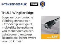 Intensief gebruik thule wingbar edge-Thule