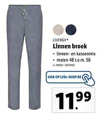 Linnen broek-Livergy