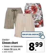 Linnen short-Esmara