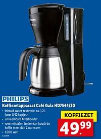 Philips koffiezetapparaat café gaia hd7544-20-Philips