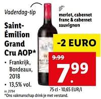 Saintémilion grand cru aop-Rode wijnen
