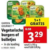 Vegetarische burgers of balletjes-Garden Gourmet