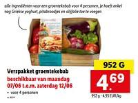 Verspakket groentekebab-Huismerk - Lidl