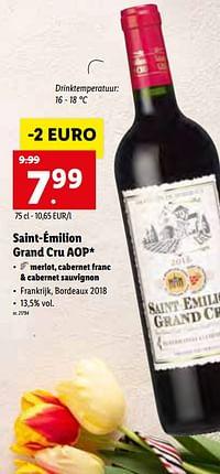 Saint-émilion grand cru aop-Rode wijnen