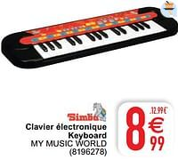 Clavier électronique keyboard my music world-Simba