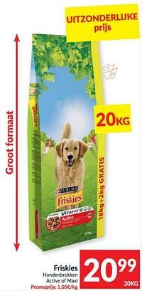 Friskies hondenbrokken active of maxi-Purina