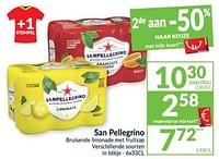 San pellegrino bruisende limonade met fruitsap-Sanpellegrino