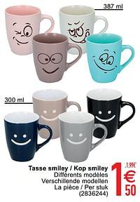 Tasse smiley - kop smiley-Huismerk - Cora