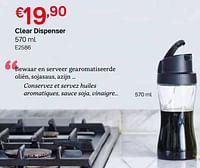 Clear dispenser-Huismerk - Tupperware