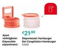 Diepvriesset hamburger set congélation hamburger-Huismerk - Tupperware