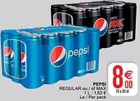 Pepsi regular ou - of max-Pepsi