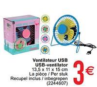 Ventilateur usb usb-ventilator-Huismerk - Cora