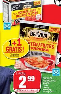 Frieten of voetballetjes belviva-Belviva