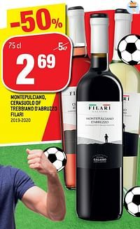 Montepulciano cerasuolo of trebbiano d`abruzzo filari-Rode wijnen