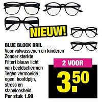 Blue block bril-Huismerk - Big Bazar