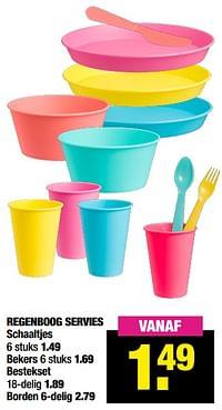 Regenboog servies schaaltjes-Huismerk - Big Bazar