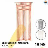 Deurgordijn macramé-Huismerk - Xenos