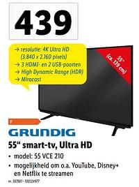 Grundig 55`` smart-tv, ultra hd-Grundig