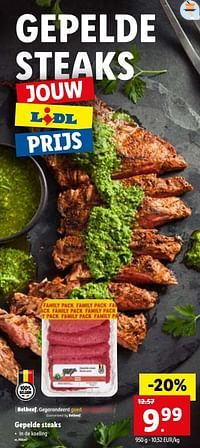 Gepelde steaks-Huismerk - Lidl